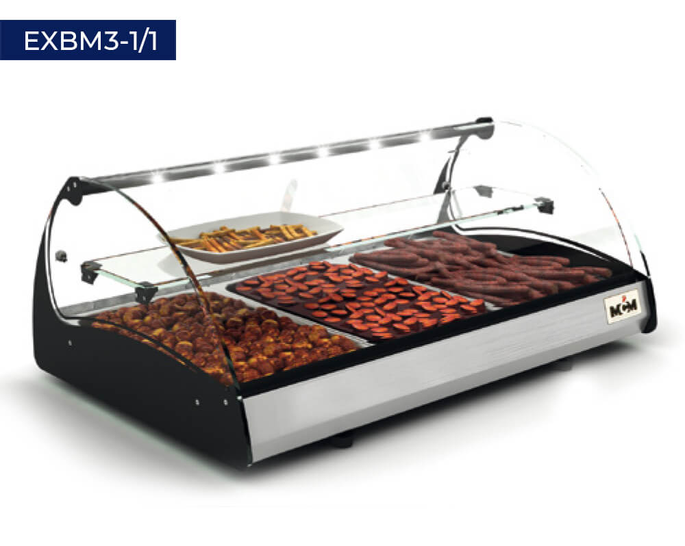 Heated displayers with bain-marie EXBM3-1/1