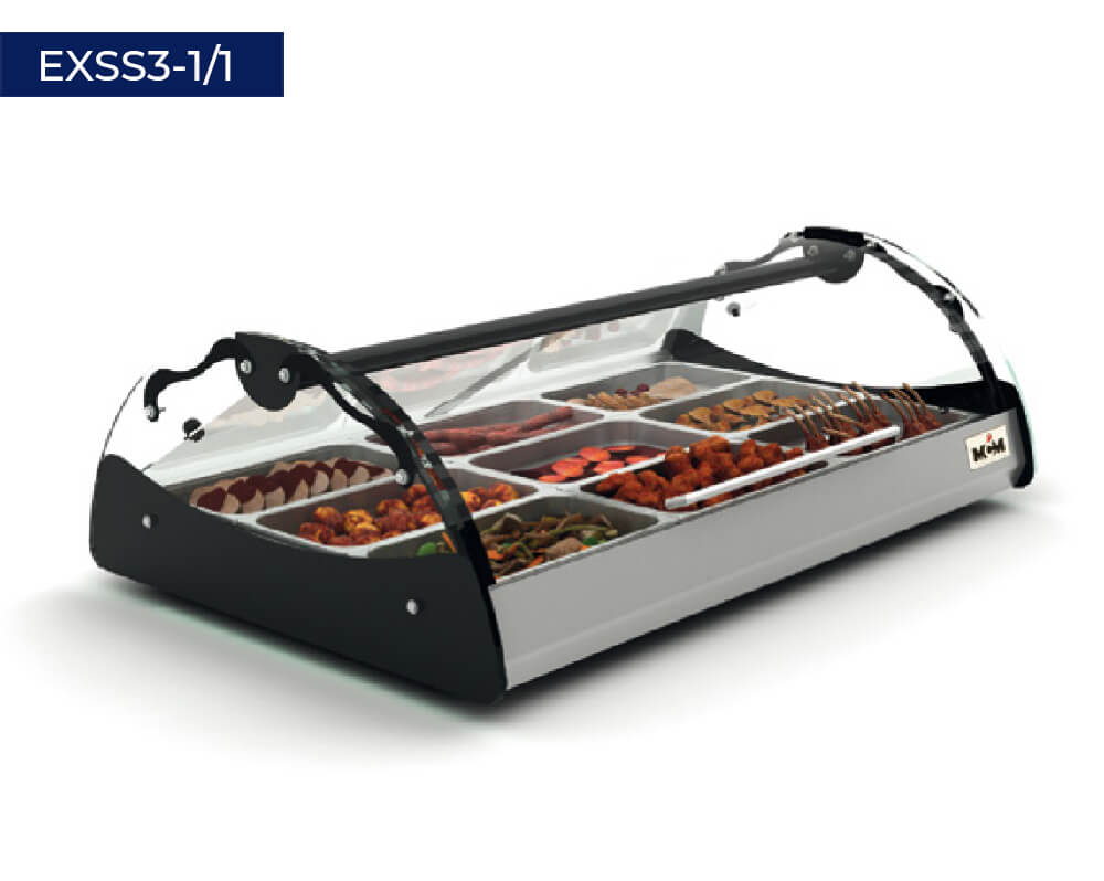 Heated displayers with bain-marie EXSS3-1/1