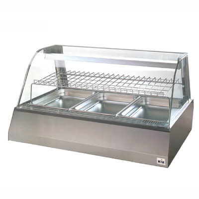 Ventilated heated displayers