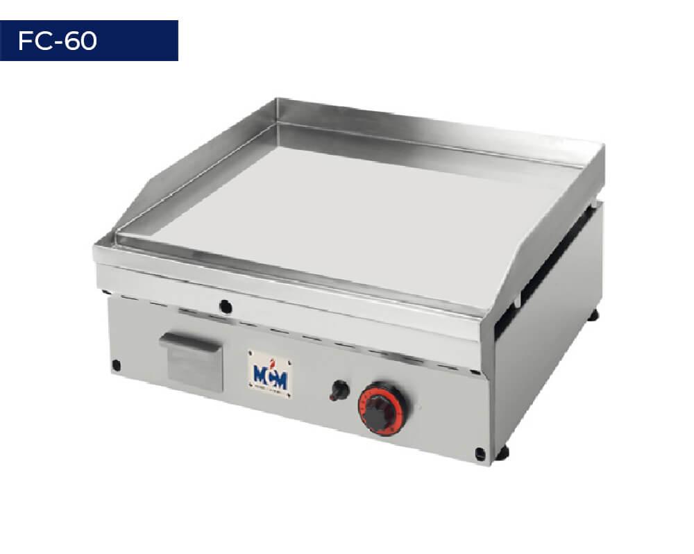Plancha de cromo duro termostática FC-60