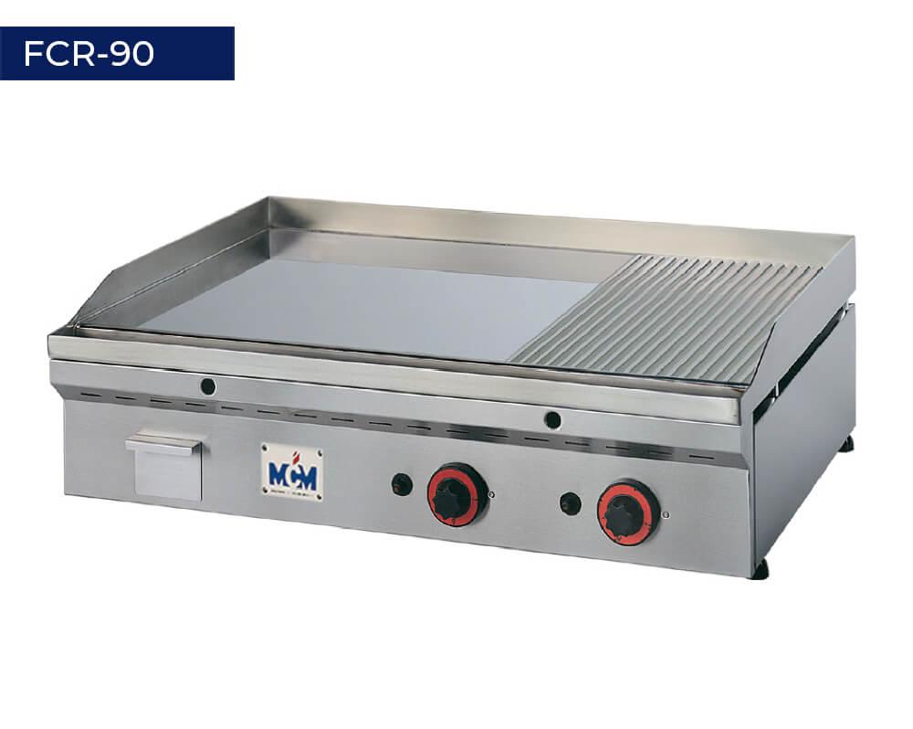 Plancha de cromo duro termostática FCR-90